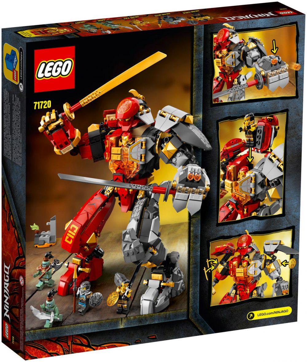 LEGO Ninjago 71720 pas cher, Le Robot de feu et de pierre