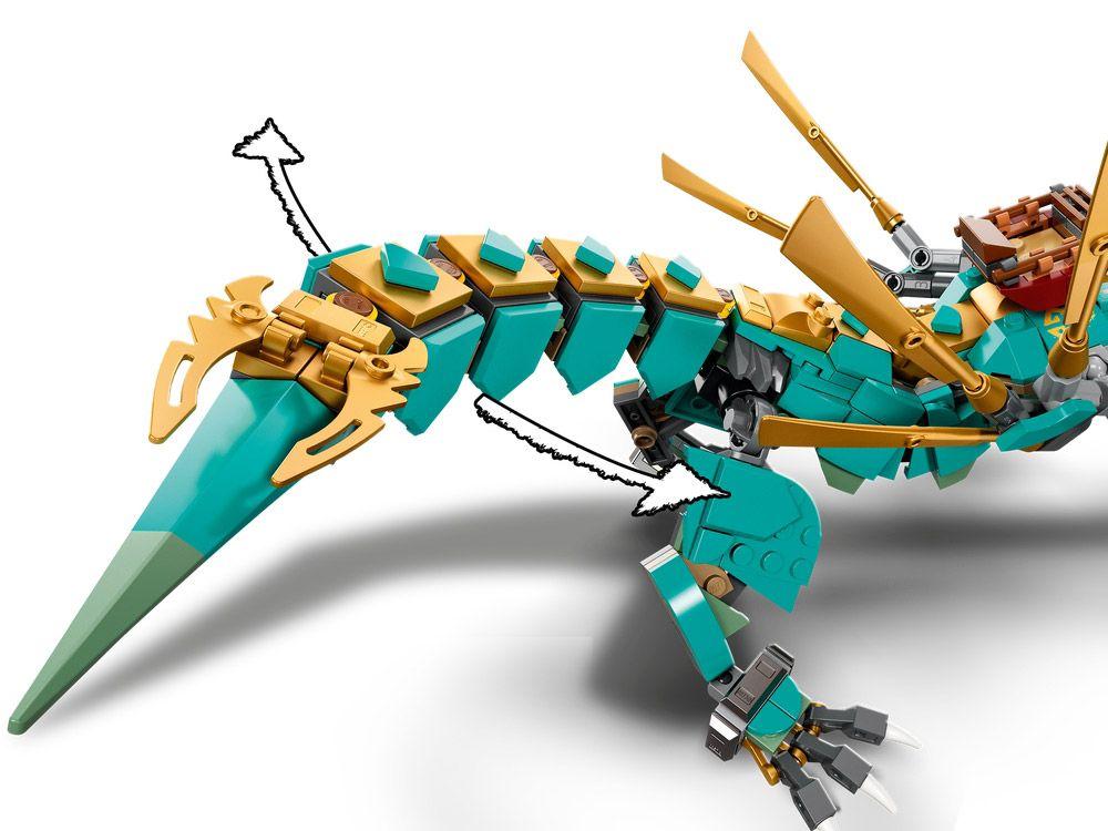 LEGO Ninjago 71746 pas cher, Le dragon de la jungle