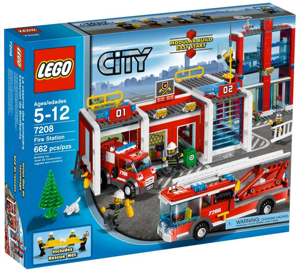 lego city 7208 la caserne des pompiers - Lego City Pompier