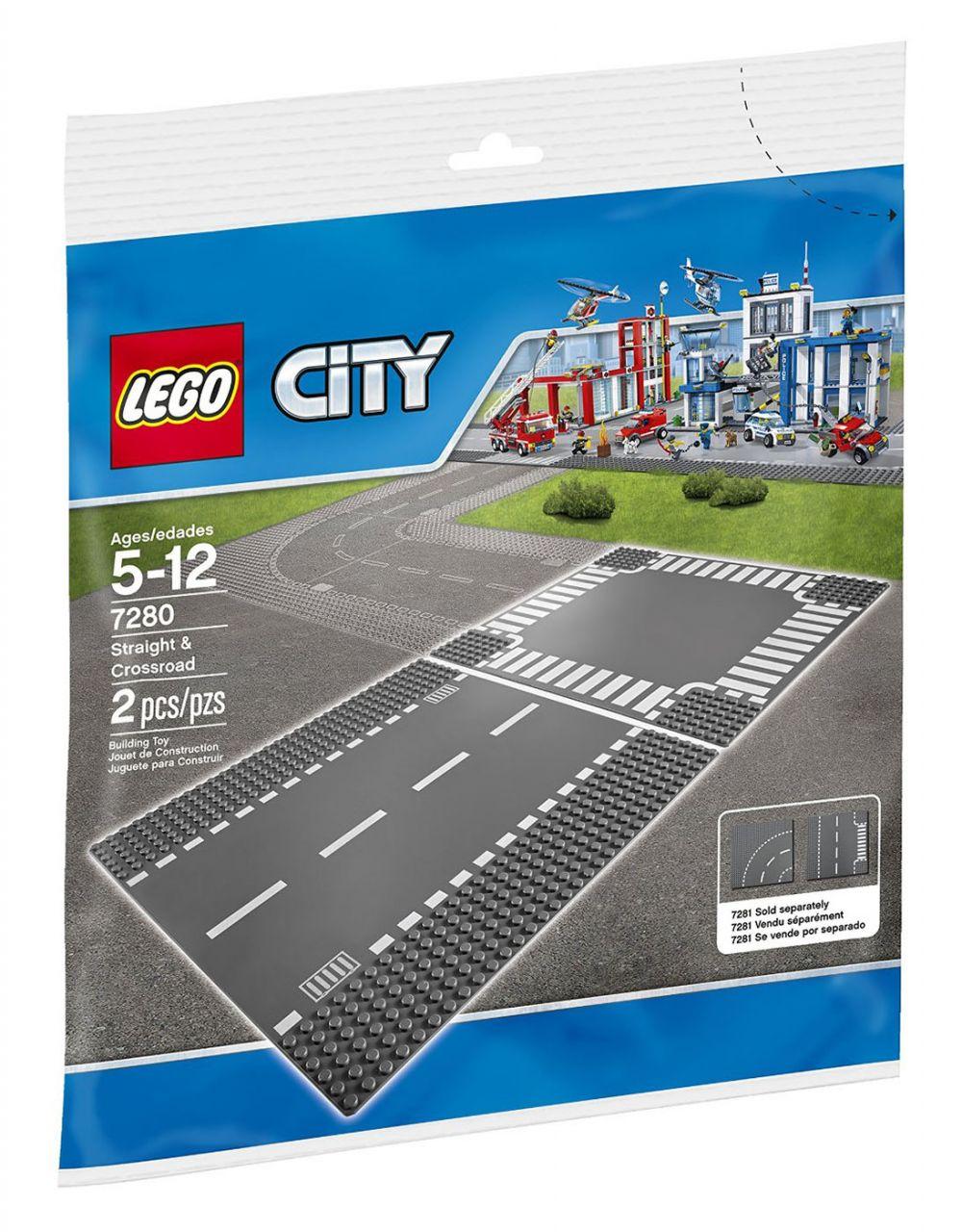 lego city 7280 pas cher plaques de route ligne droite et carrefour. Black Bedroom Furniture Sets. Home Design Ideas