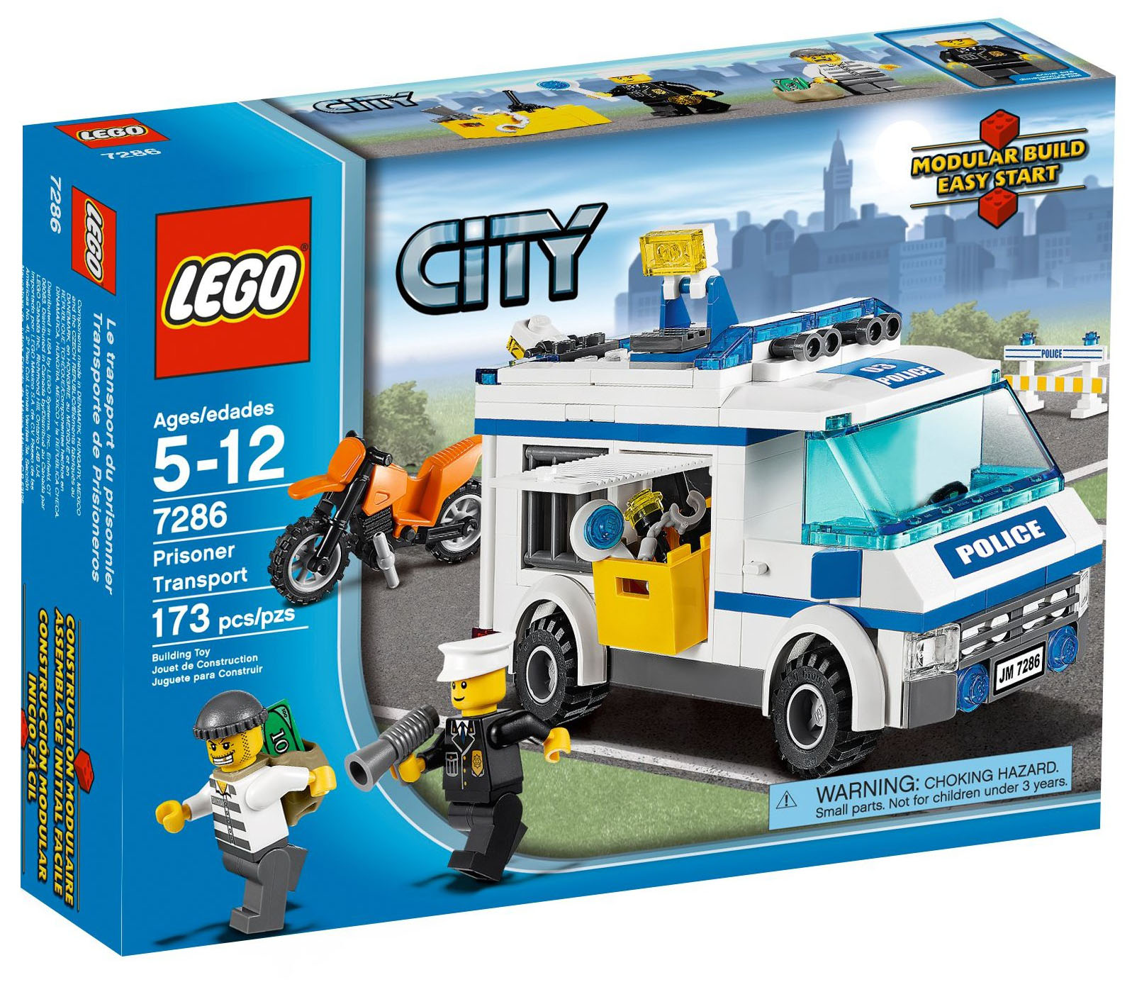 lego city 7286 pas cher le transport du prisonnier. Black Bedroom Furniture Sets. Home Design Ideas