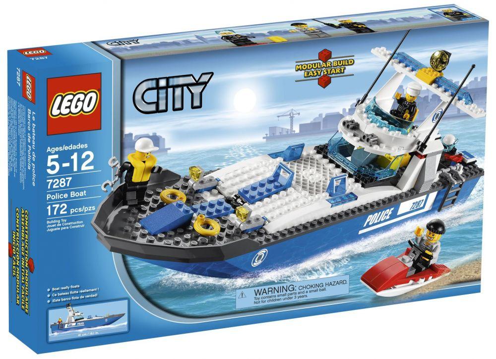 lego city 7287 pas cher le bateau de police. Black Bedroom Furniture Sets. Home Design Ideas