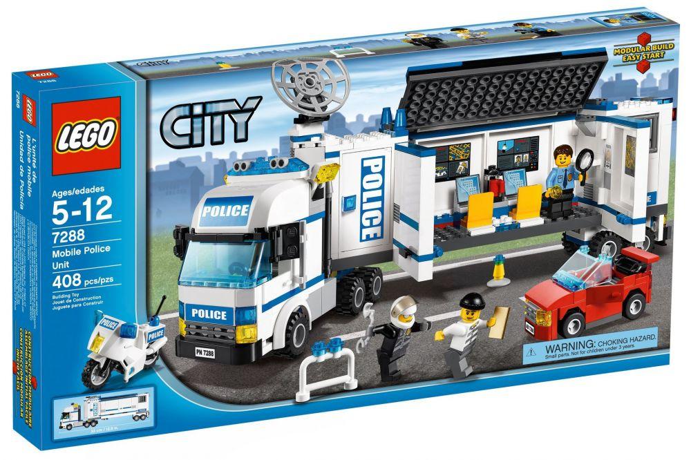 Lego city 7288 pas cher l unit de police mobile - Lego camion de police ...