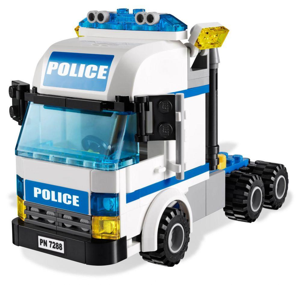 Lego city 7288 pas cher l unit de police mobile - Lego camion police ...