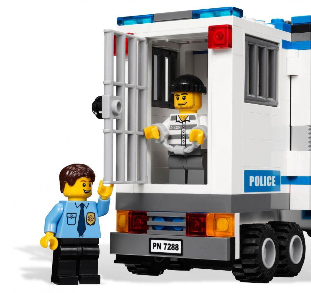 Lego city 7288 pas cher l unit de police mobile - Lego city camion police ...