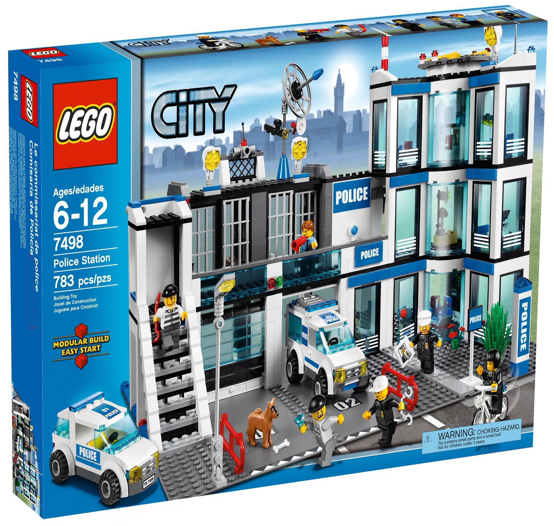 lego city 7498 pas cher le commissariat de police. Black Bedroom Furniture Sets. Home Design Ideas