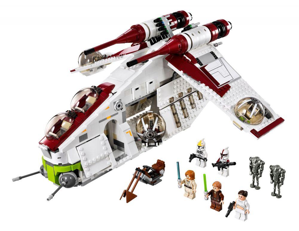 lego star wars 75021 pas cher republic gunship. Black Bedroom Furniture Sets. Home Design Ideas