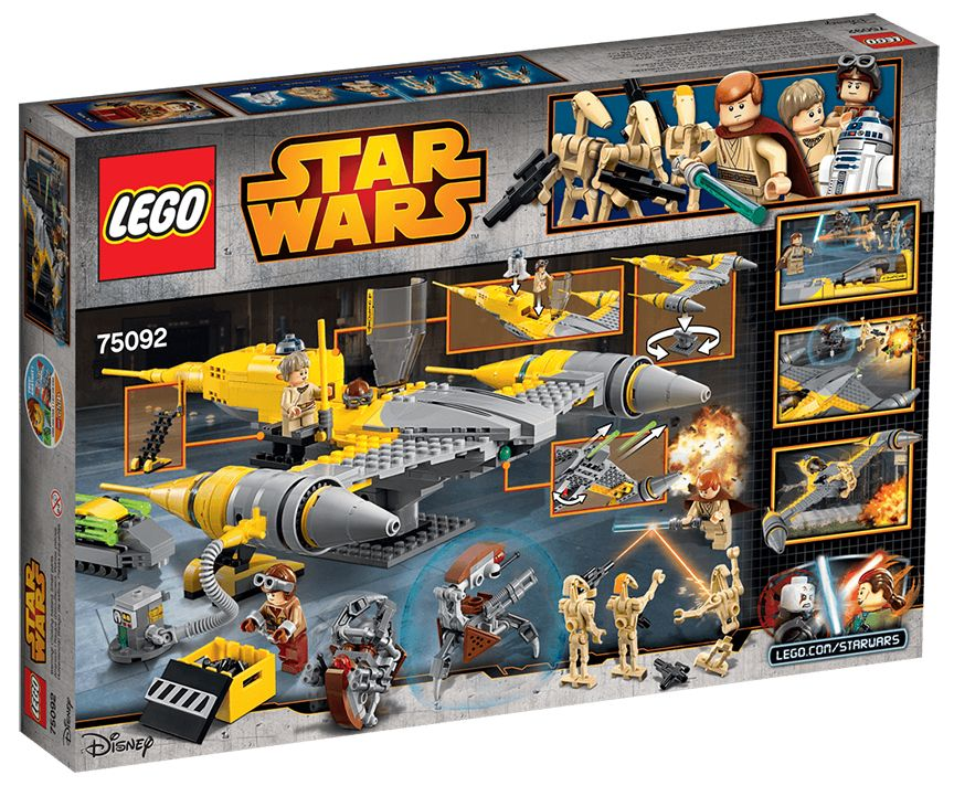 lego star wars 75092 pas cher starfighter de naboo. Black Bedroom Furniture Sets. Home Design Ideas