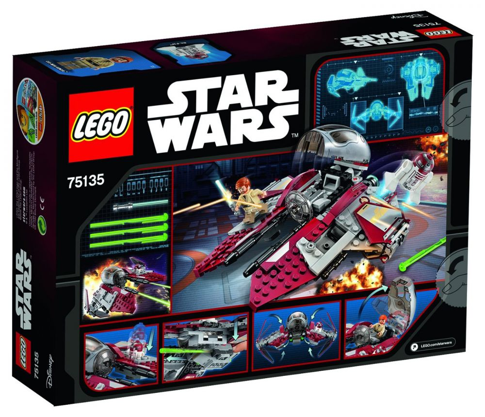 lego star wars 75135 pas cher le jedi interceptor d 39 obi. Black Bedroom Furniture Sets. Home Design Ideas