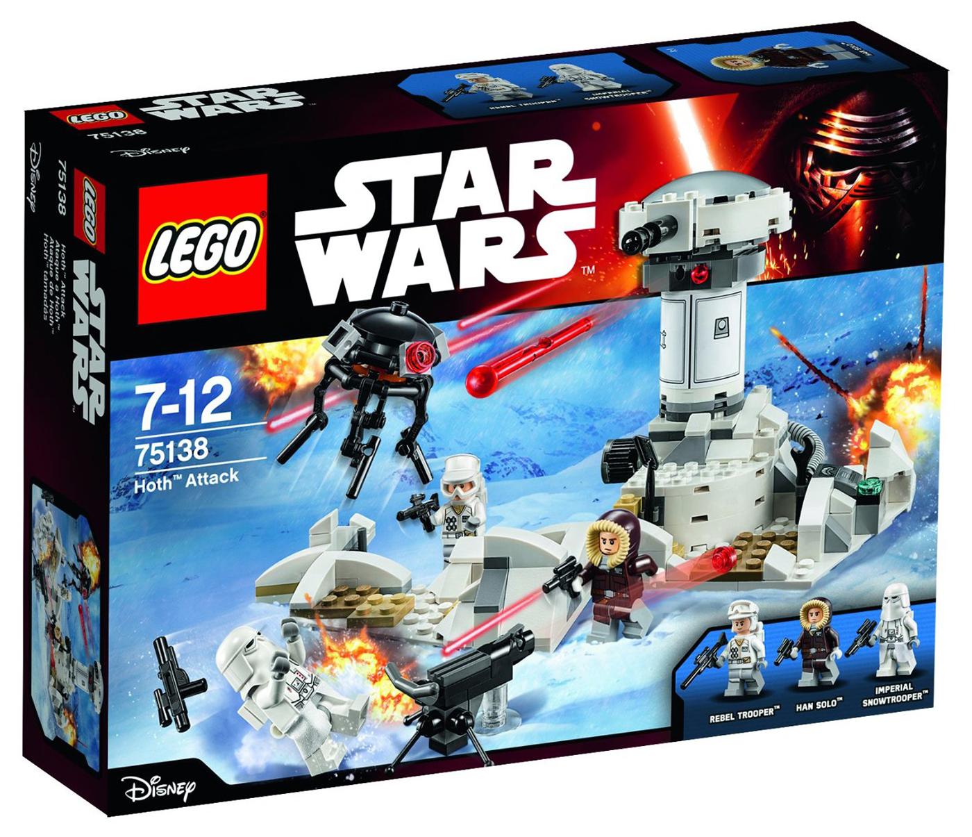lego star wars 75138 pas cher l 39 attaque de hoth. Black Bedroom Furniture Sets. Home Design Ideas