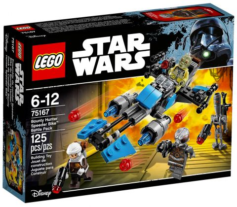 LEGO Star Wars 75167 Pack de combat la moto speeder du Bounty Hunter
