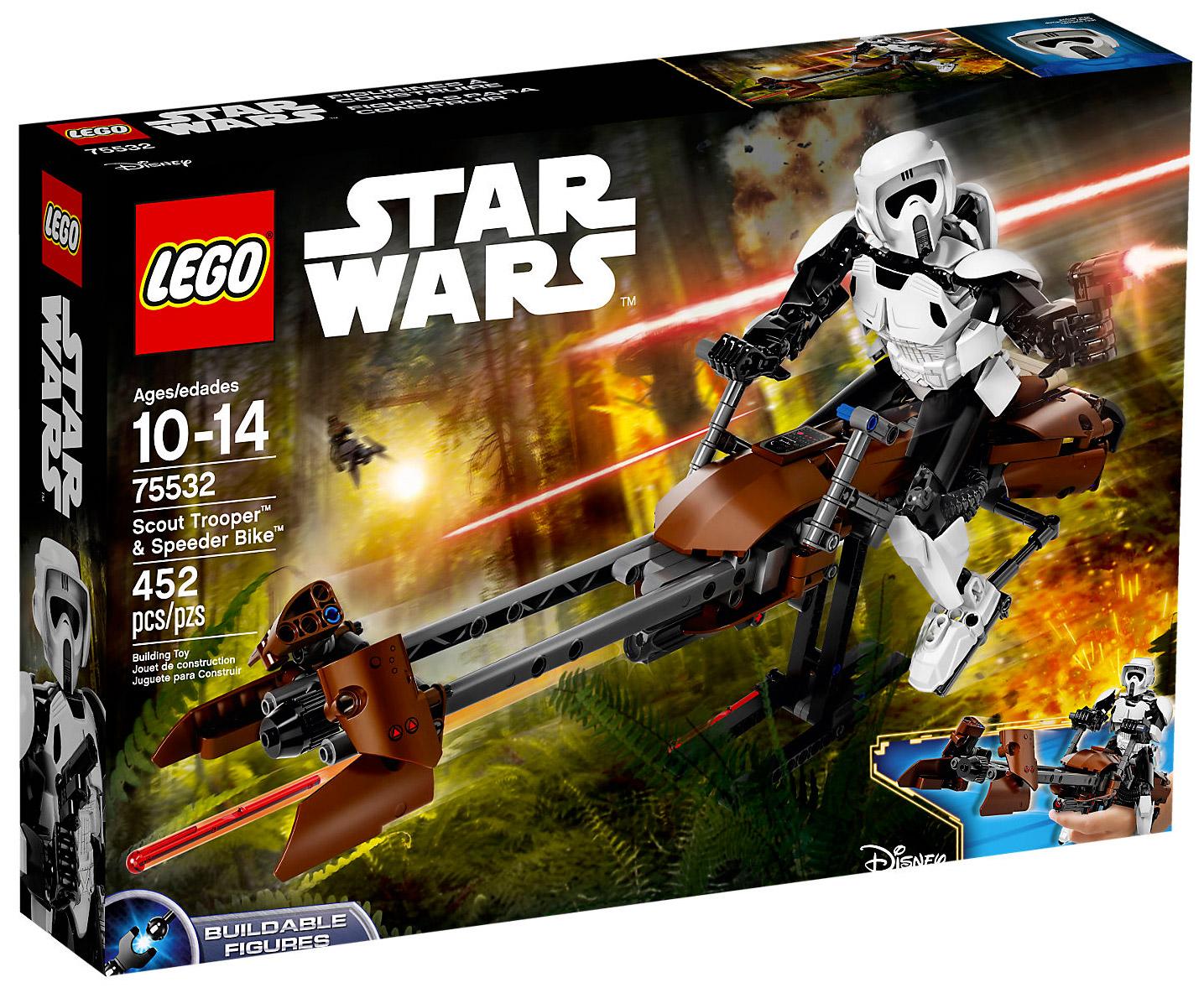 lego star wars 75532 pas cher scout trooper speeder bike. Black Bedroom Furniture Sets. Home Design Ideas