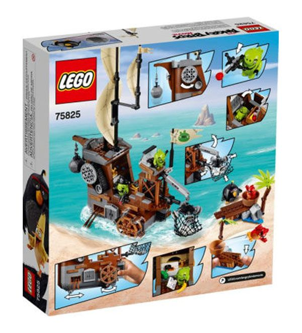 lego angry birds 75825 pas cher le bateau pirate du cochon. Black Bedroom Furniture Sets. Home Design Ideas
