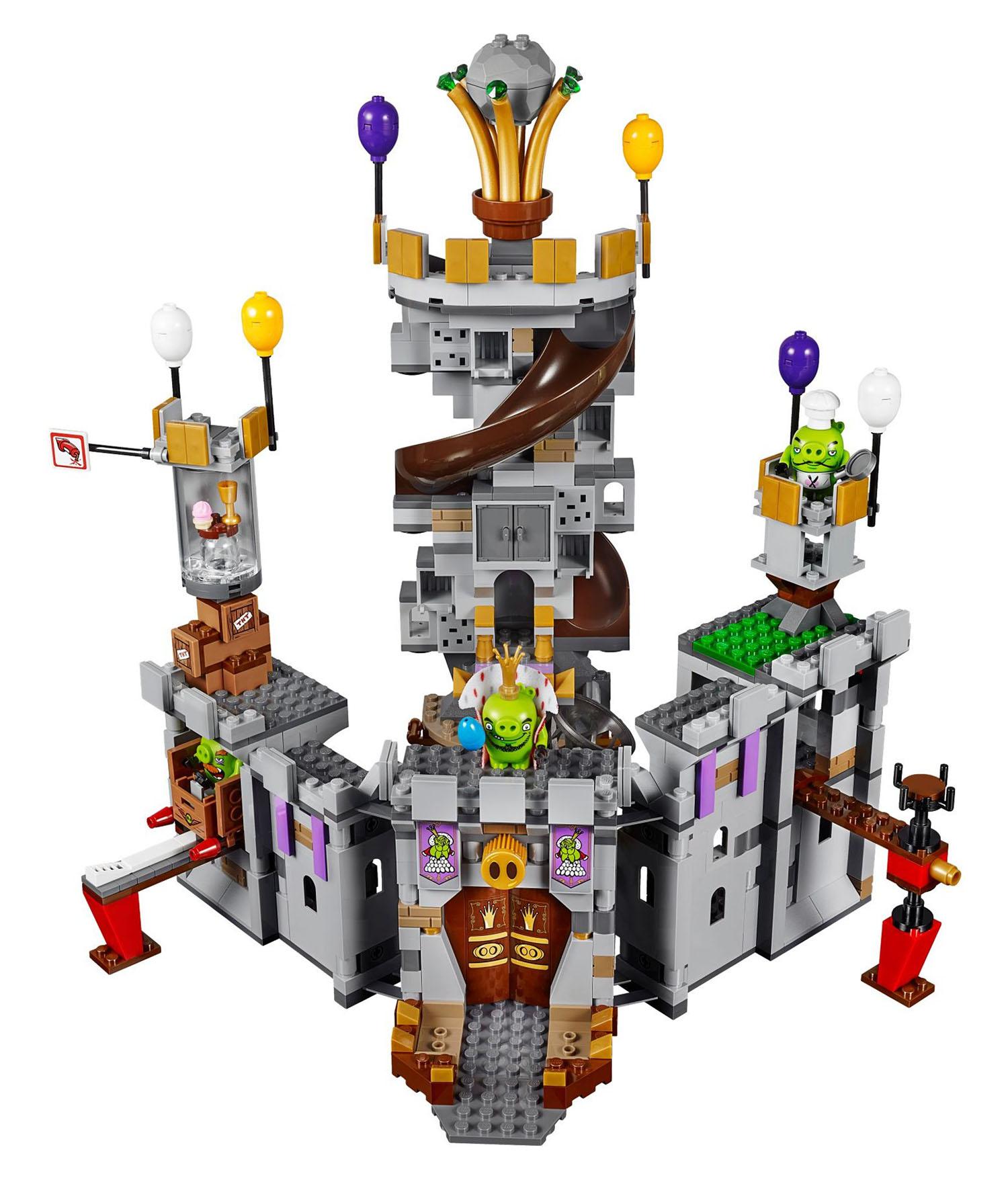 Lego angry birds 75826 pas cher le ch teau du roi cochon - Cochon angry bird ...