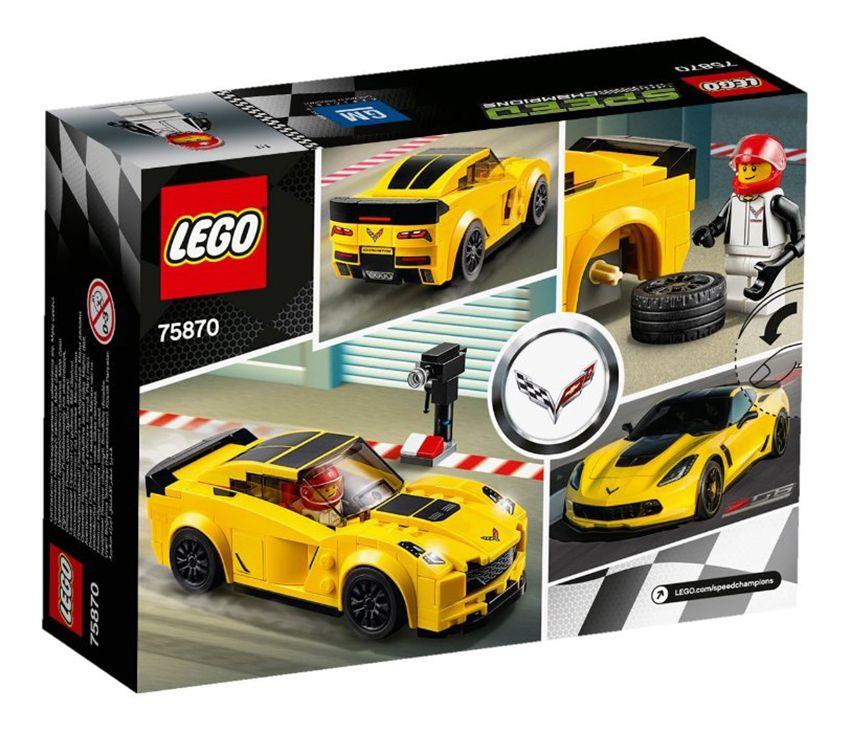 lego speed champions 75870 pas cher chevrolet corvette z06. Black Bedroom Furniture Sets. Home Design Ideas