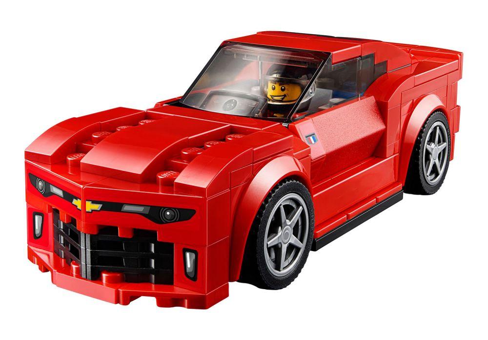 lego speed champions 75874 pas cher la course des chevrolet camaro. Black Bedroom Furniture Sets. Home Design Ideas