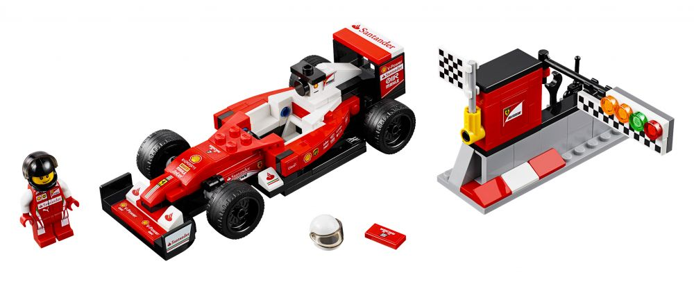 lego speed champions 75879 pas cher scuderia ferrari sf16 h. Black Bedroom Furniture Sets. Home Design Ideas