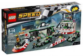 LEGO Speed Champions 75883 - MERCEDES AMG PETRONAS Formula One Team pas cher