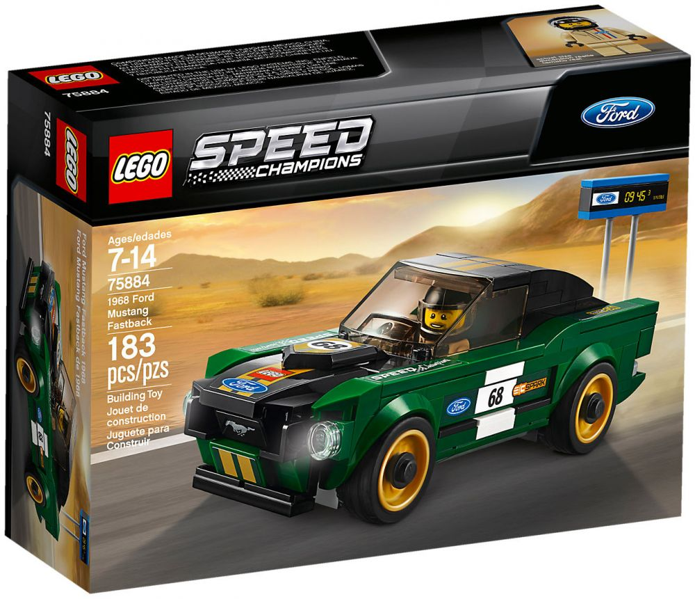 lego speed champions 75884 pas cher ford mustang fastback 1968. Black Bedroom Furniture Sets. Home Design Ideas