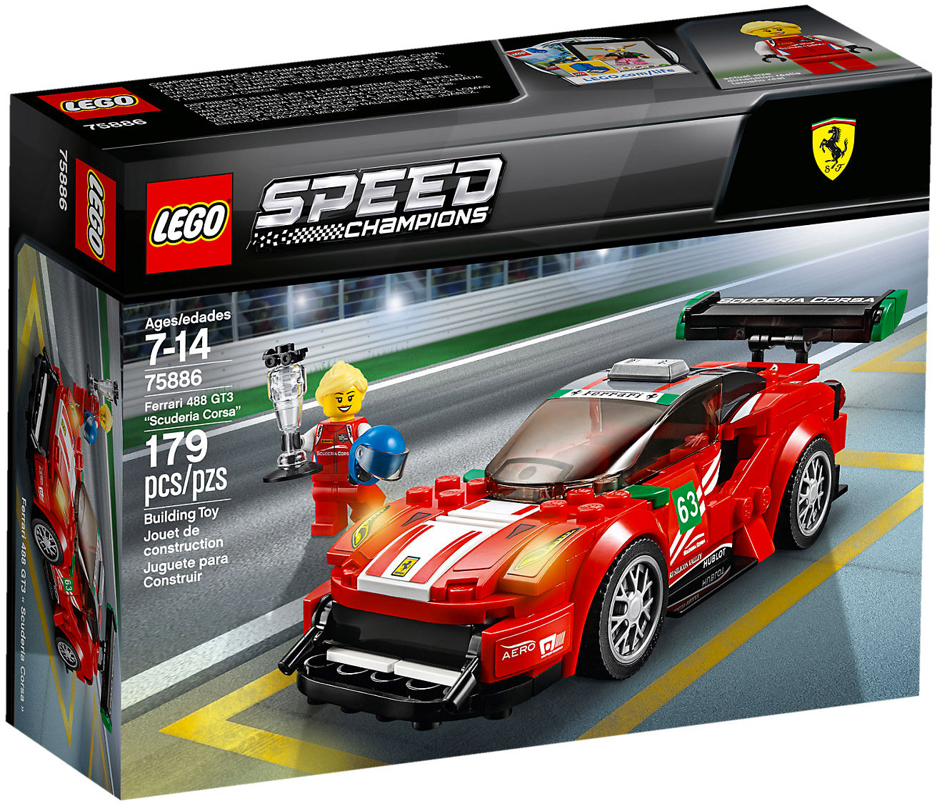 lego speed champions 75886 pas cher scuderia corsa. Black Bedroom Furniture Sets. Home Design Ideas