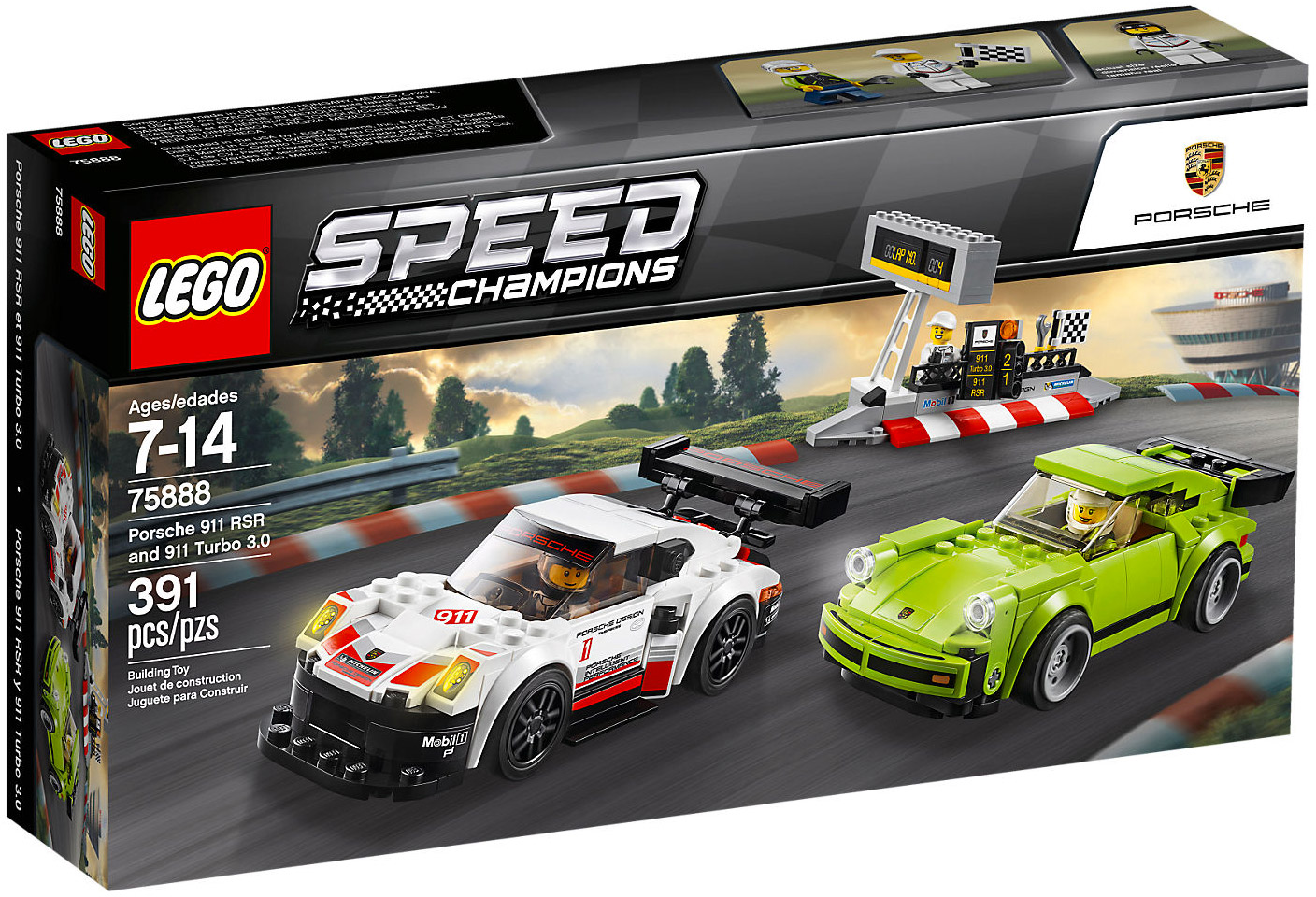lego speed champions 75888 pas cher porsche 911 rsr et 911 turbo 3 0. Black Bedroom Furniture Sets. Home Design Ideas