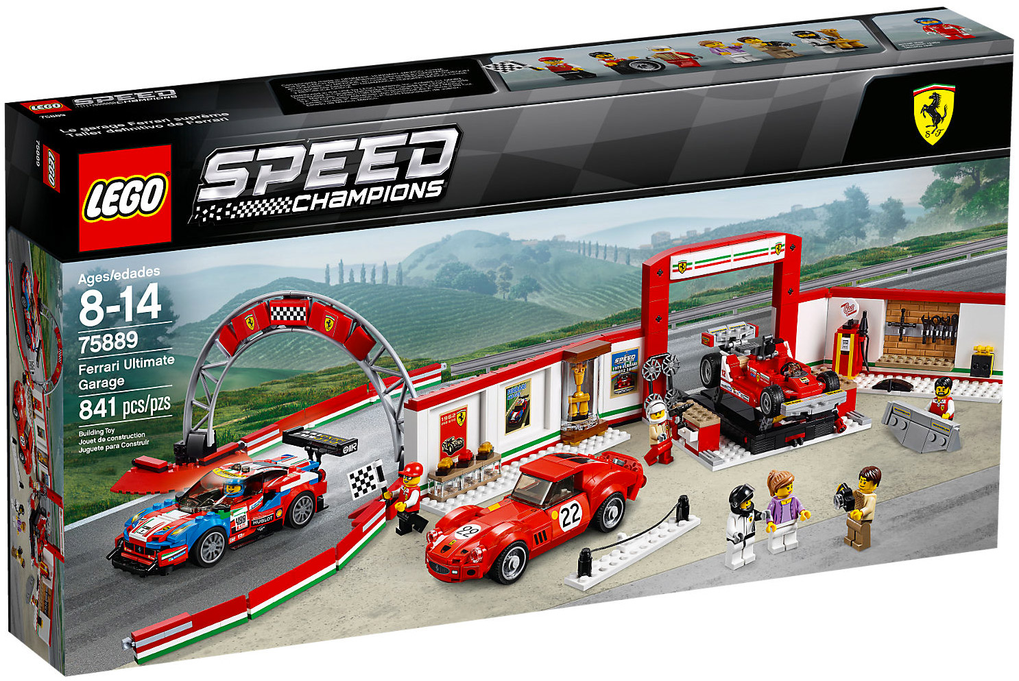 lego speed champions 75889 pas cher le stand ferrari. Black Bedroom Furniture Sets. Home Design Ideas