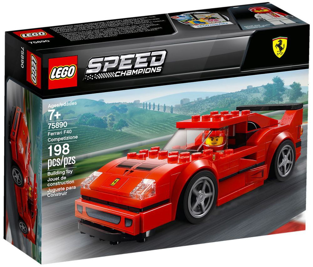 Ferrari Lego 75890 Champions Competizione Speed F40 yf6Ymb7Igv