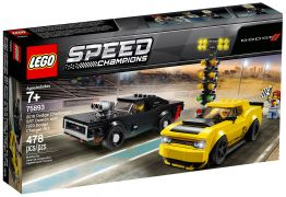 LEGO Speed Champions 75893 Dodge Challenger SRT Demon 2018 et Dodge Charger R/T 1970