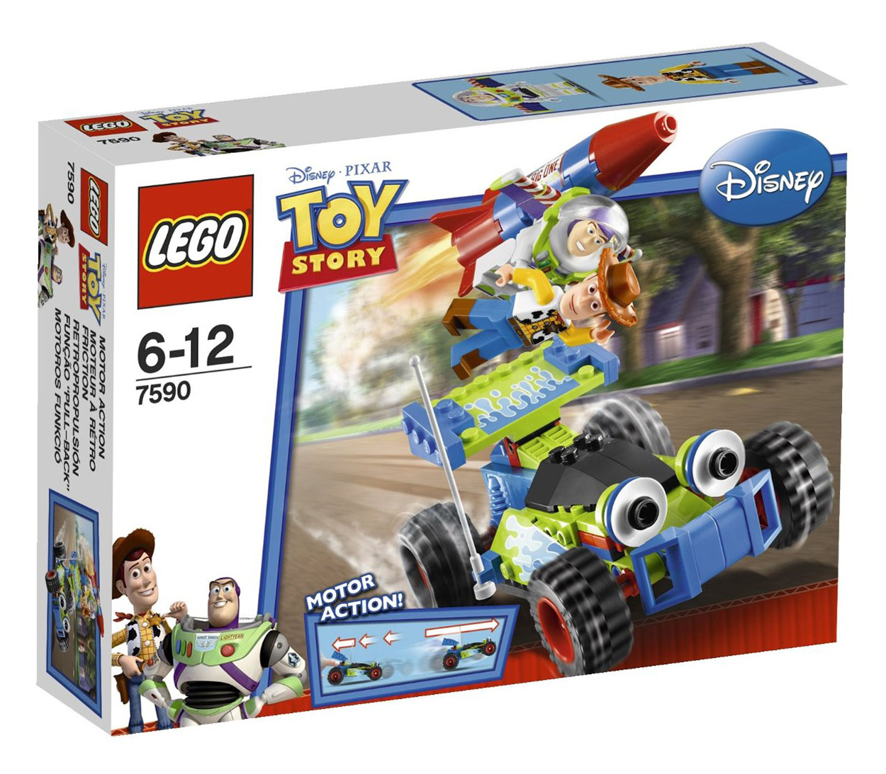 World Of Buzz: LEGO Toy Story 7590 Pas Cher, La Course En Voiture De Buzz