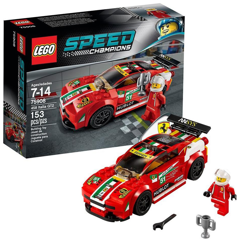 lego speed champions 75908 pas cher ferrari 458 italia gt2. Black Bedroom Furniture Sets. Home Design Ideas