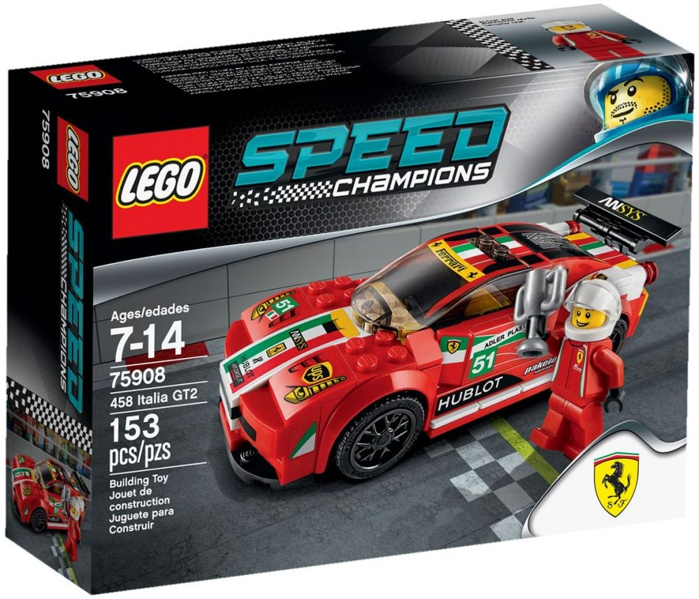 lego speed champions 75908 pas cher ferrari 458 italia gt2. Black Bedroom Furniture Sets. Home Design Ideas