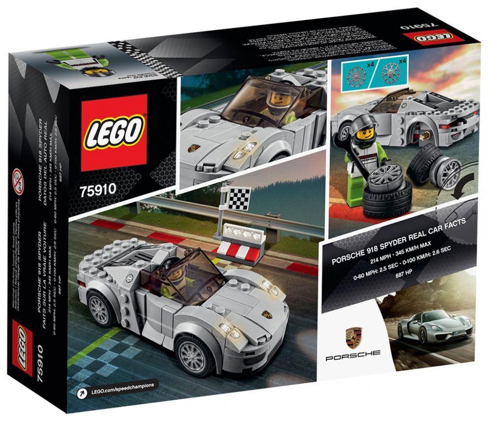 lego speed champions 75910 pas cher porsche 918 spyder. Black Bedroom Furniture Sets. Home Design Ideas