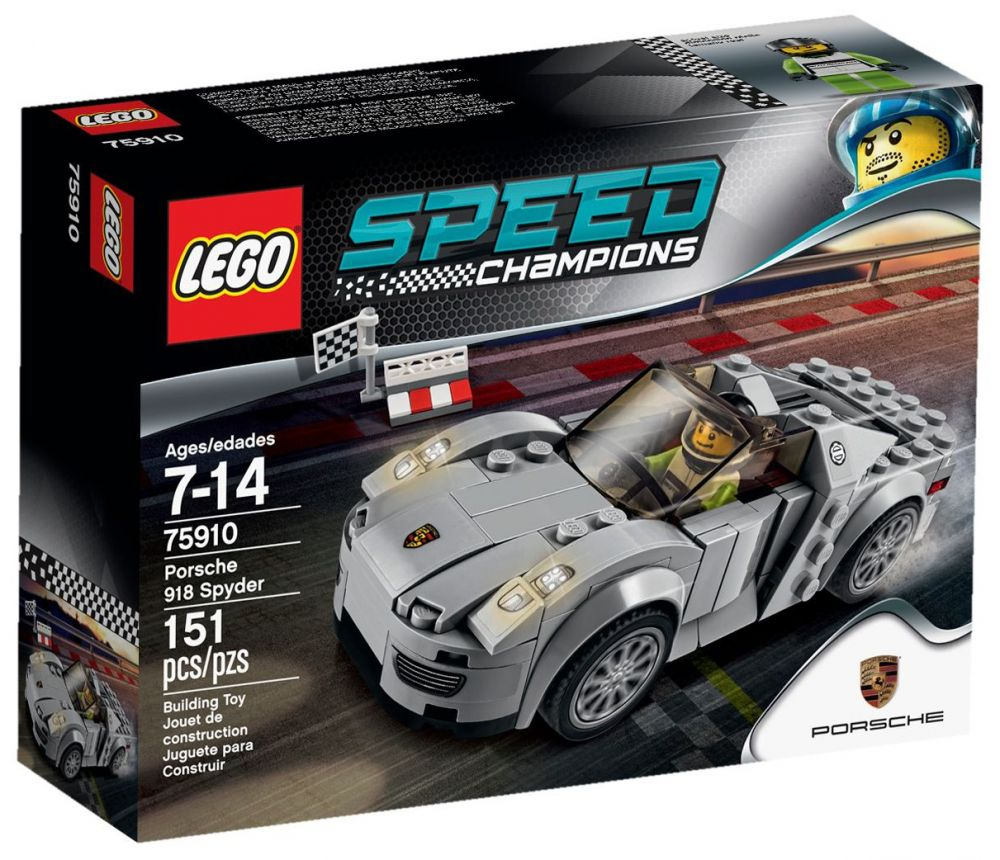 lego speed champions 75910 pas cher porsche 918 spyder. Black Bedroom Furniture Sets. Home Design Ideas