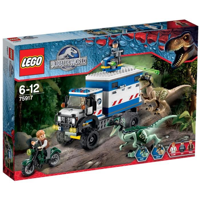 Lego jurassic world 75917 pas cher la destruction du v lociraptor - Jeux lego dino ...