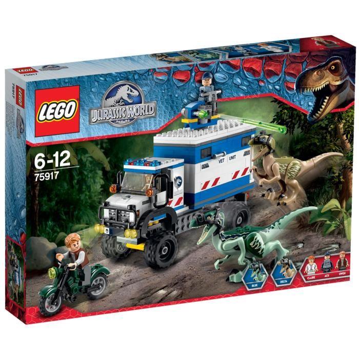 Lego jurassic world 75917 pas cher la destruction du v lociraptor - Jeux lego dino ...