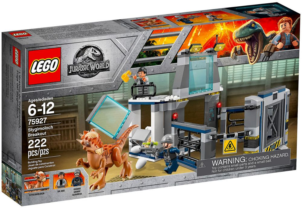 lego jurassic world 75927 pas cher l 39 vasion du stygimoloch. Black Bedroom Furniture Sets. Home Design Ideas