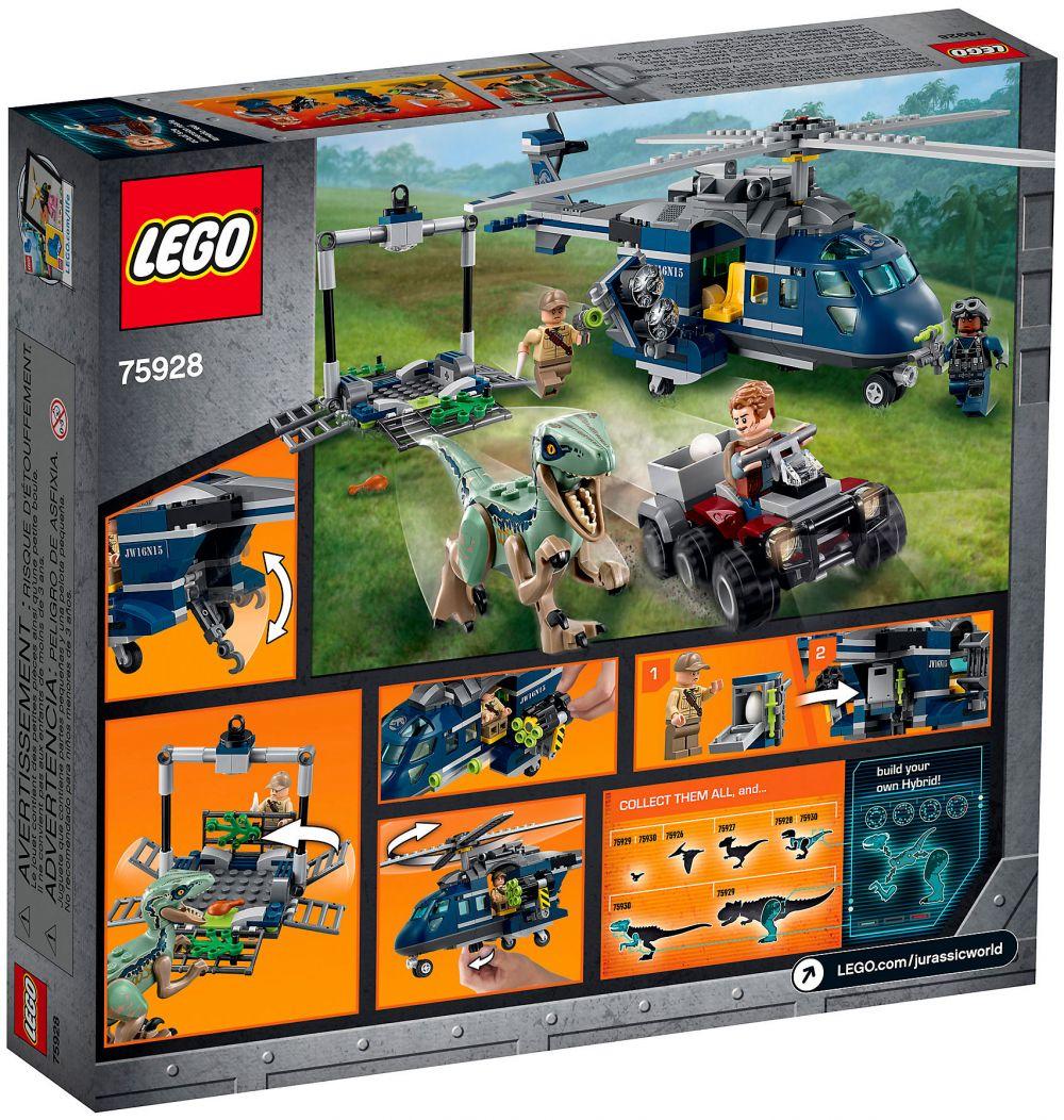 En World Jurassic Blue Hélicoptère Poursuite Lego 75928 De La 92EDIHW