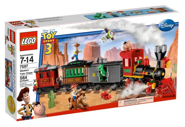 LEGO Toy Story 7597 Course poursuite dans le train du Far West