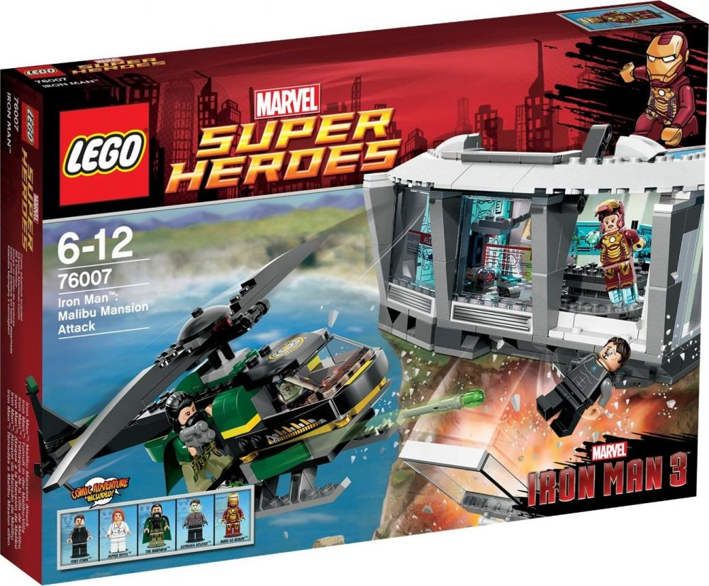 ManL'attaque Lego Heroes 76007 La Iron Villa Marvel De Malibu Super nOkNwX80P