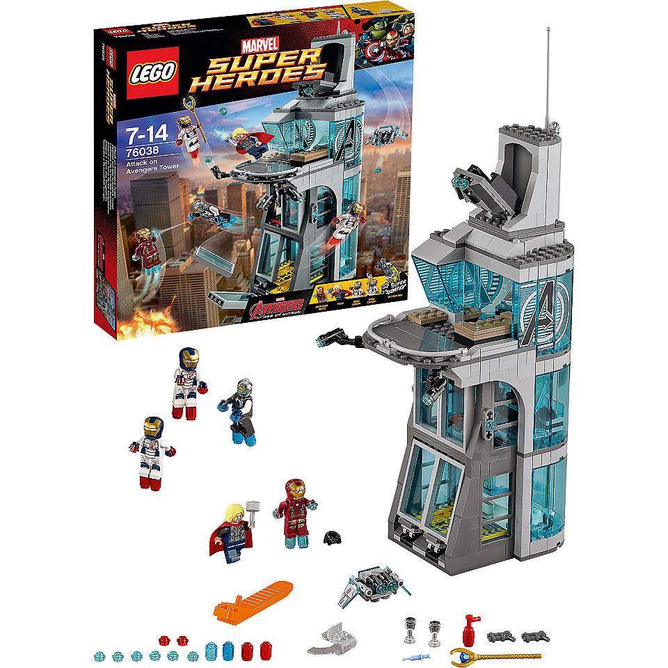 Lego marvel super heroes 76038 pas cher l 39 attaque de la for Tour avengers