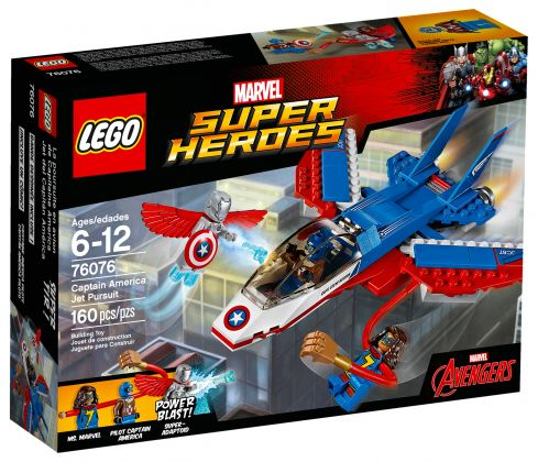 LEGO Marvel Super Heroes 76076 La poursuite en avion de Captain America