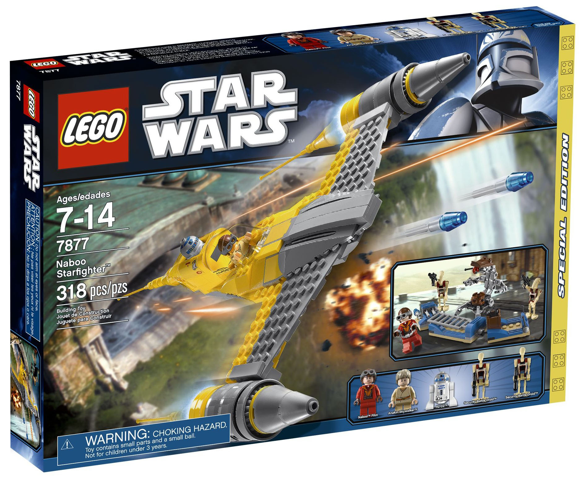 Lego star wars 7877 pas cher naboo starfighter - Lego star wars vaisseau droide ...
