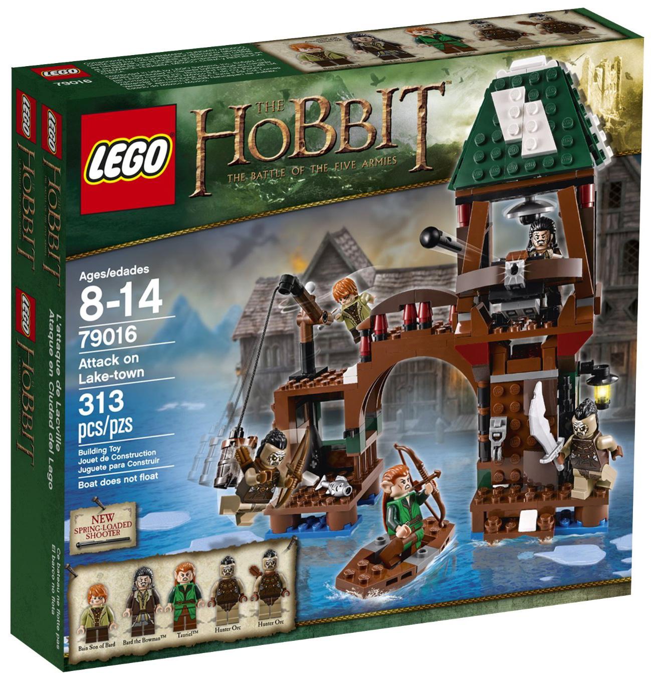 lego le hobbit 79016 pas cher l 39 attaque de lacville. Black Bedroom Furniture Sets. Home Design Ideas