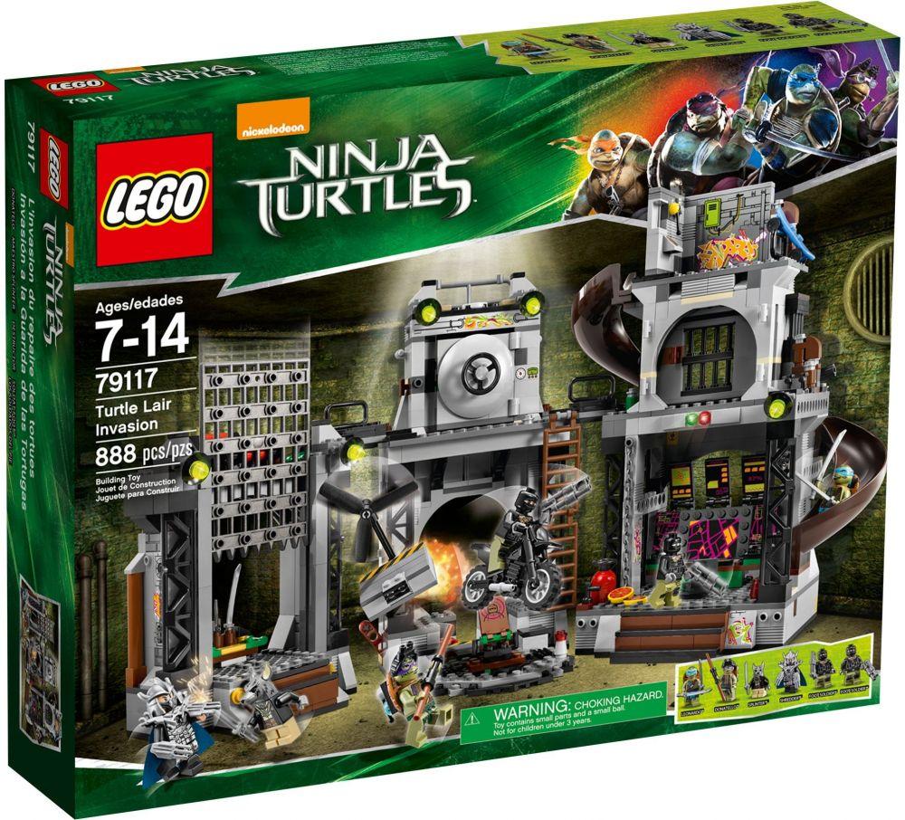 Des Ninja Tortues L'invasion Repaire Lego 79117 Du mNn08vw