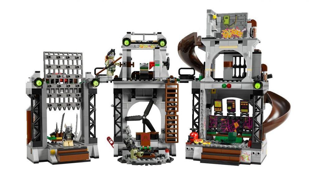 LEGO Tortues Ninja 79117 Pas Cher, L'invasion Du Repaire Des Tortues
