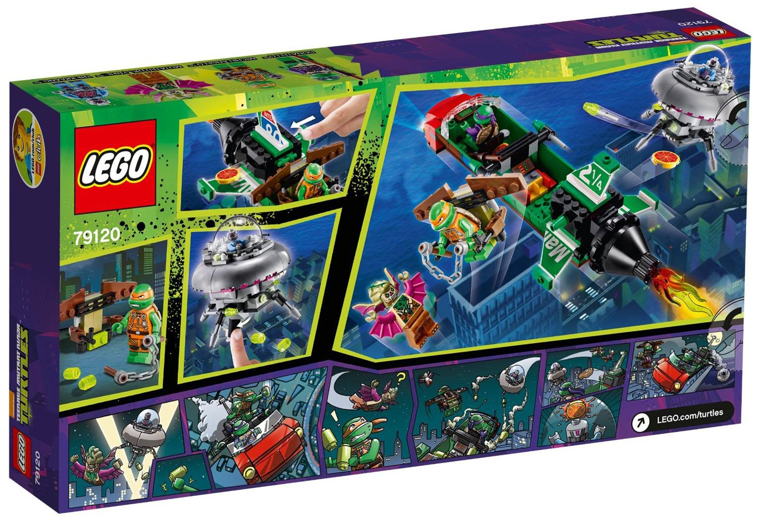 Lego tortues ninja 79120 pas cher l 39 attaque a rienne en for Repere des tortue ninja