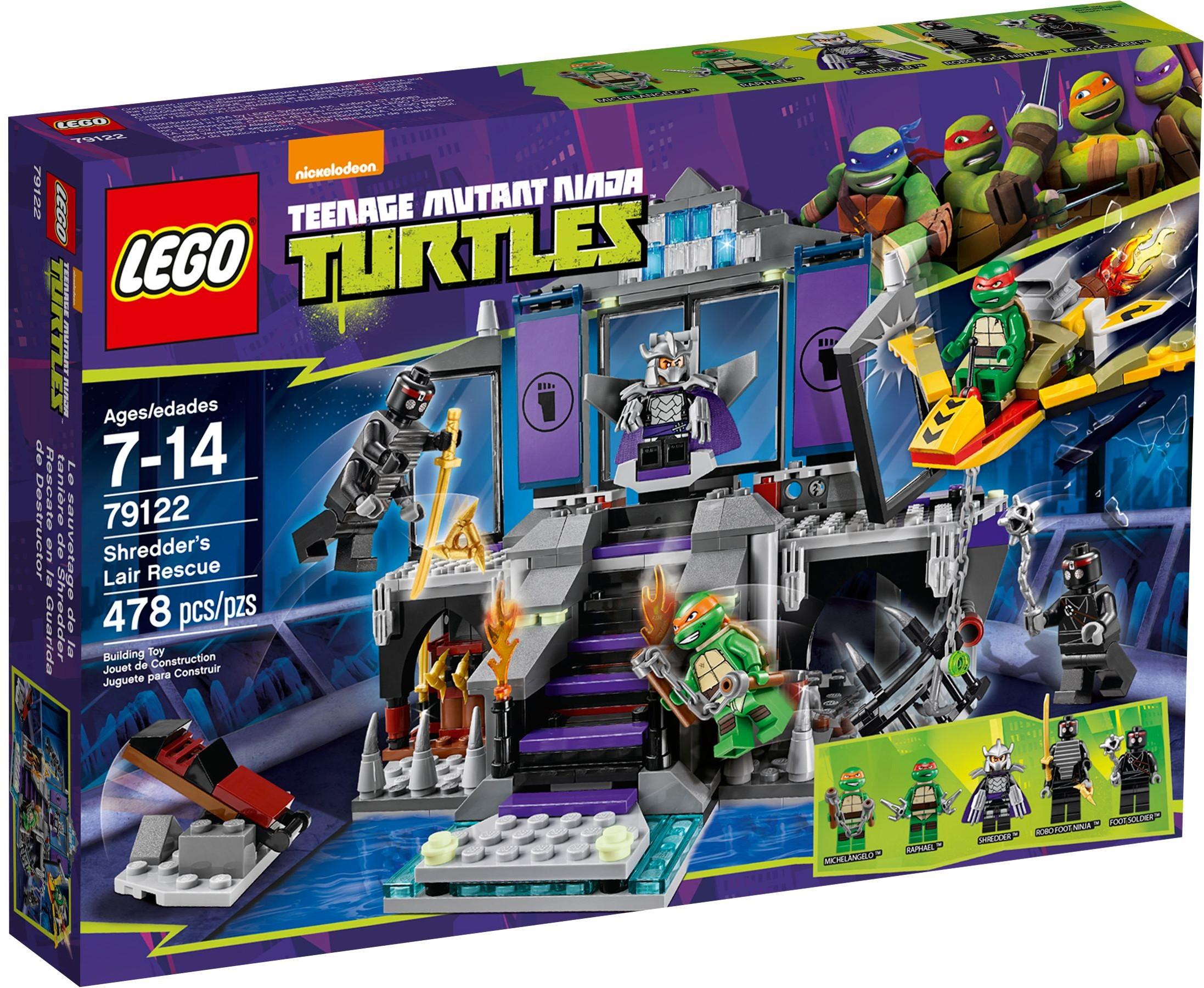 Lego tortues ninja 79122 pas cher l 39 chap e de la for Repere des tortue ninja