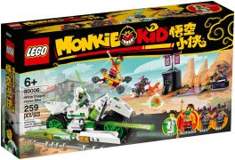 LEGO Monkie Kid 80006 La moto Cheval-Dragon blanc