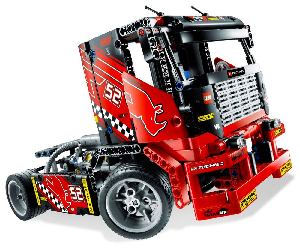 lego technic 8041 pas cher camion de course. Black Bedroom Furniture Sets. Home Design Ideas