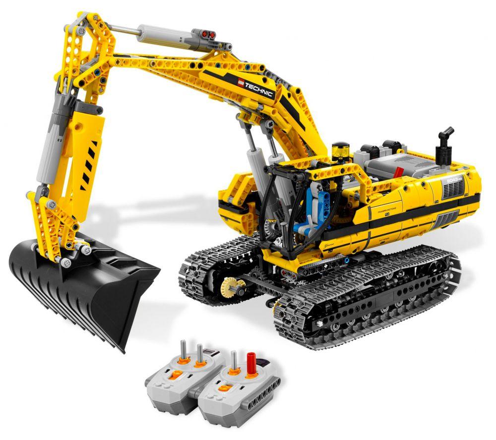 lego technic 8043 pas cher la pelleteuse motoris e. Black Bedroom Furniture Sets. Home Design Ideas